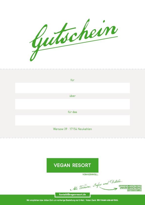 Gutscheine für das Vegan Resort